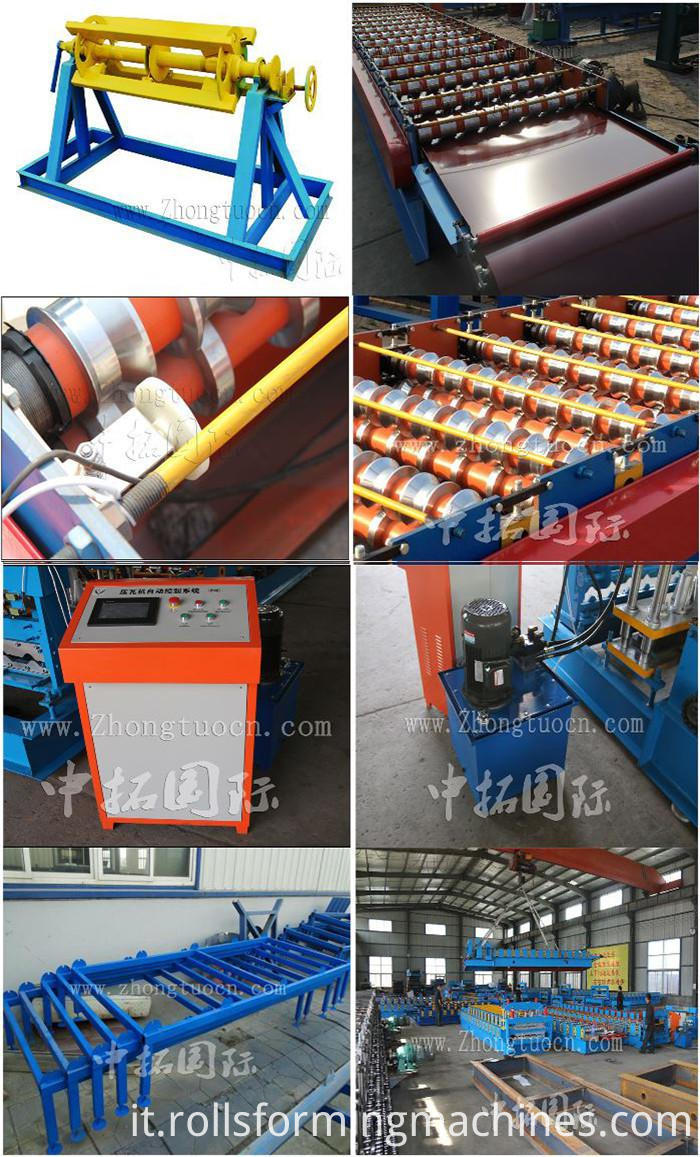 Aluminum Step Tile Roll Forming Machine