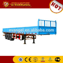 tri-axle low bed semi trailer for sale semi trailer axle made in China flat bed semi trailer