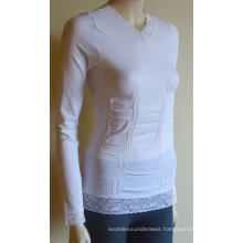 Womens Sexy Seamless Long SLeeve With Lace Tops