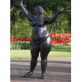 statues abstraites de haute qualité de la sculpture de yoga en bronze de graisse
