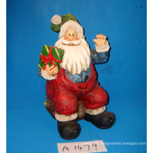 Resin Antique Santa with Gifts for Christmas Decoration
