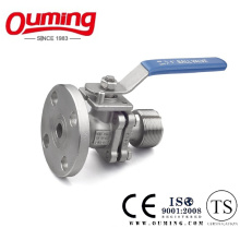 2PCS Flange Ball Valve with Threaded End
