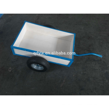 heavy duty wooden two Wheels dumping/sand box trailer