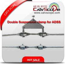 Abrazadera de suspensión doble de alta calidad del cable óptico de fibra de ADSS