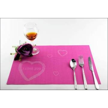 PVC table mat decoration cushion roses