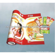 candy packing plastic film in roll