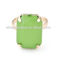 2014 Nuevo anillo personalizado de la piedra del cuadrado de la manera