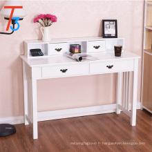 Bureau d'ordinateur blanc à 4 tiroirs pour bureau à domicile