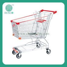 Asian Supermarket Shopping Trolleys with Rubber Casters (JS-TNT16)