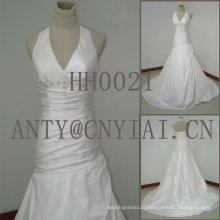 HH0021 real sample mermaid halter neck wedding dress