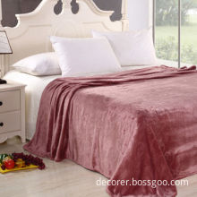 100% polyester beautiful and soft flannel blanket