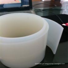 Tira de borracha de silicone branco transparente