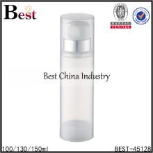 Botella airless de la loción de acrílico transparente 150ml, botella sin aire de la loción 150ml para el cosmético