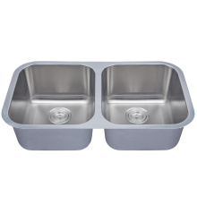 Stainless Steel Insert Equal Double Bowl Kitchen Sinks
