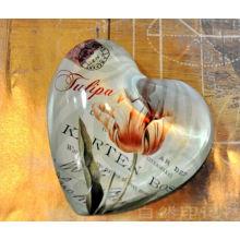 Heartweight Crystal Paperweight Cúpula e Paperweight coração de vidro