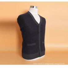 Yak Wool / Cashere V Neck Cardigan à manches longues / Vêtements / Vêtements / Tricots
