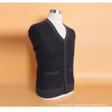 Yak Wool/Cashere V Neck Cardigan Long Sleeve Sweater/Clothing/Garment/Knitwear