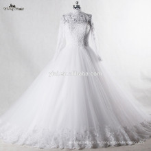 RSW939 мусульманин свадебное платье высокая шея свадебные платья