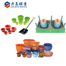 Injection Molding Flowerpot Maker Made In China Imitate Fence Plastic Garden Flower Pot Mould