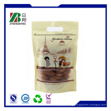 Stand up Plastic Soft Snack Food Packing with Zip