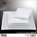 Compras en línea de alta calidad hotel / restaurante de vajilla de frutas placa de porcelana placa de porcelana blanca