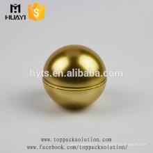 fabricant de plastique 50ml boule d'or en forme de pots de crème pour le visage acrylique