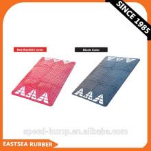 Cojín de velocidad de seguridad vial de ancho de caucho negro o rojo de 1800 mm