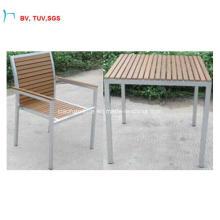 Ч-Китай Мебель Пластик Дерево Обеденный Стол Комплект