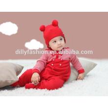 Forme a sombrero lindo del bebé dos pom pom bebé beanie invierno sofe cap