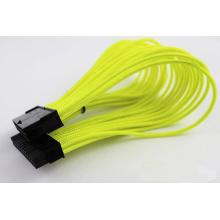 Cable de extensión de la energía de la placa madre M / F de la sola trenza 24-Pin