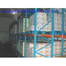 Ebilmetal Logistics Industry Supermarket Refrigerator Pallet Push Back Warehouse Rack