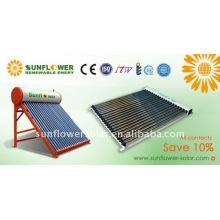Integrado no presurizado evacuado tubo solar sistema de calentador de agua con SABS estándar
