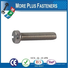 Made in Taiwan Machine Screw ISO 1207 Slotted Cheese Head Stainless Carbon Steel