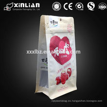 Bolsa de palomitas de maíz de hoja de aluminio de gusset lateral de impresión personalizada / bolsas de empaque de palomitas de maíz