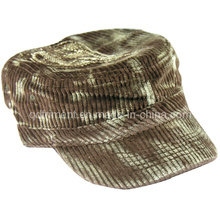 Monkey Washed Corduroy Embroidery Leisure Military Cap (TRNM019)