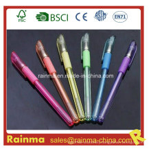 Platsic Gel Pen with Rubberized Grip