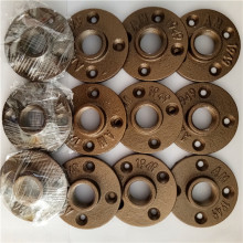 1/2'' Brass color malleable iron pipe floor flange