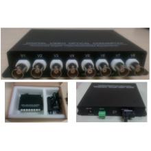 8 canales de vídeo digital convertidor / transceptor óptico