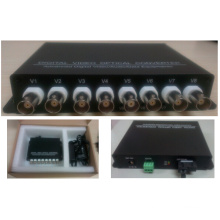 8 canais de vídeo digital conversor óptico / transceptor