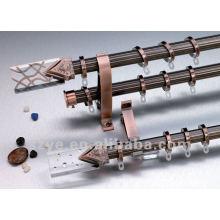 Poteaux de rideaux en alliage d'aluminium fini acrylique haut de gamme