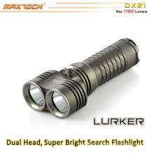 Maxtoch DX21 1100 lúmenes 1 * 26650 Li-ion batería larga distancia 2 * XML2 U2 CREE LED brillante luz antorcha
