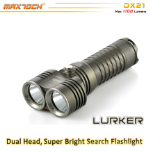 Maxtoch DX21 Dual Head Broad View XML2 U2 LED 26650 Battery LED Flashlight