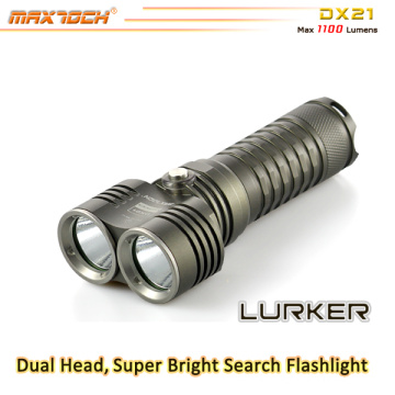 Maxtoch DX21 Dual Head Broad View XML2 U2 LED 26650 Battery LED Flashlight