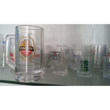 Print Drinking Ware Advertising Verres en verre Verrerie Kb-Hn0598