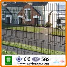 Welded Iron fence panels with Garden