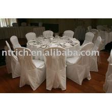 Cubierta de la silla de boda elegante