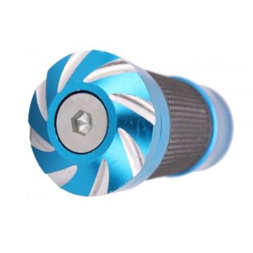 Blue Anodized CNC Turning Bike Handlebars