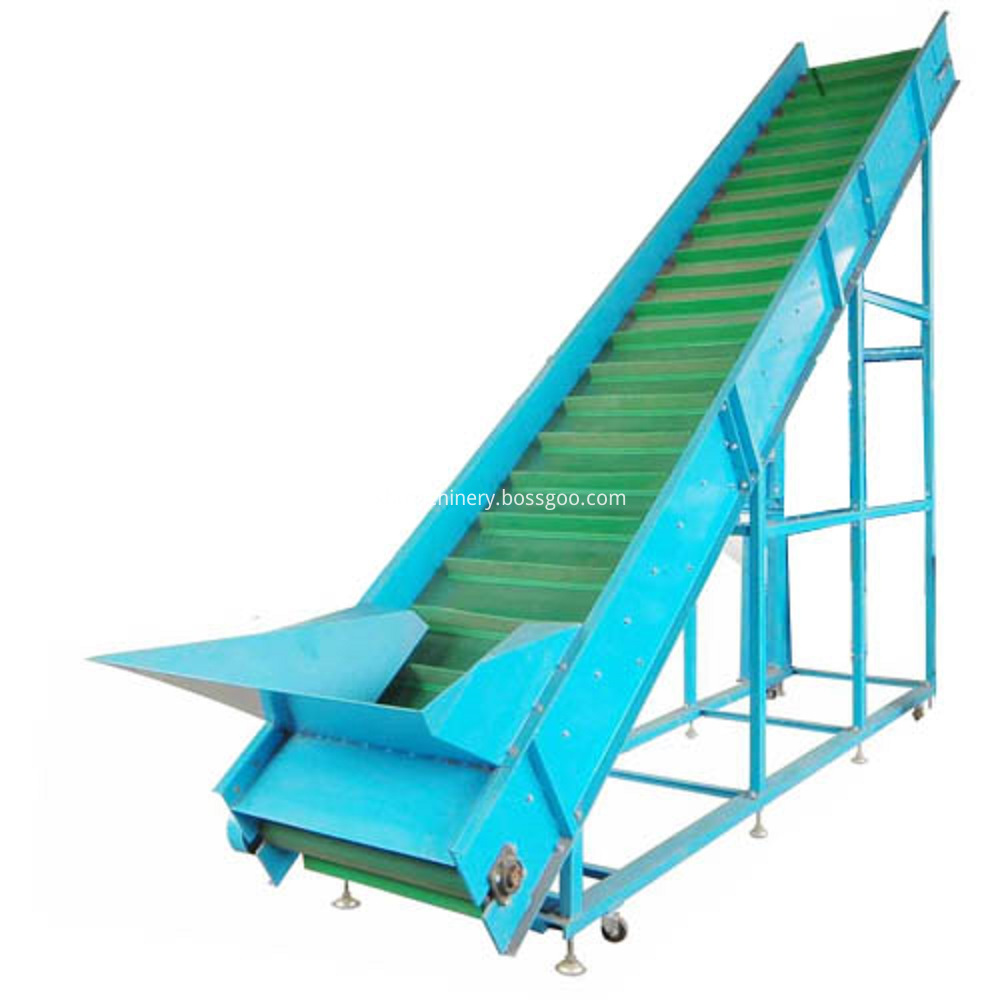 Modular belt inclined conveyor