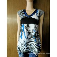 Hot Sale T-Shirt aus 100% Baumwolle für Damen