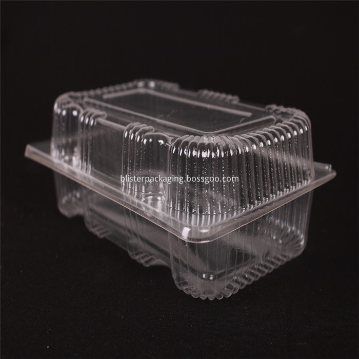 Plastic Biscuit Box with Hinged Lid